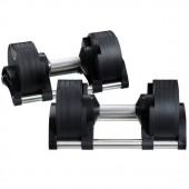 Paire d'haltères Nuobell compactes à charges réglables 2 à 20 kg