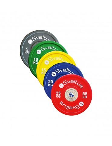 Disque de poids halterophilie à 5 niveaux de charge pour séances crosstraining à domicile ou en salle