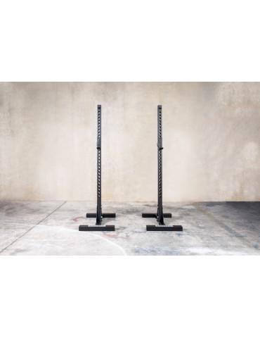 Chandelles noir pour exercices de squat en home-gym
