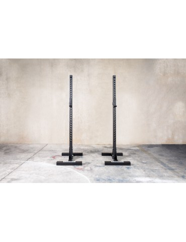 Chandelles noir pour exercices de squat en home-gym