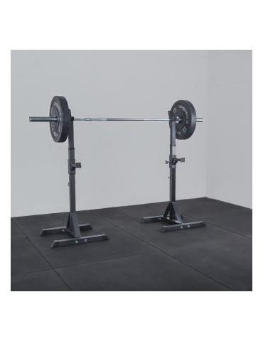 Chandelles half rack repose barres capacité 180 kg de charge pour domicile