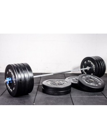 Barres de musculation olympique avec poids 50 à 200 Kg pour séances de cross training