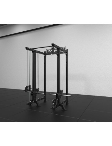 Power rack à double poulie réglables