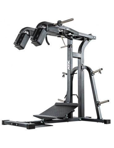 Machine à squat charge max 200 kg pour cuisses et mollets ATX