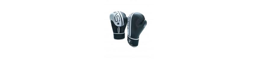 Gants en cuir Noir rembourrés pour protection des mains lors de vos training de boxe