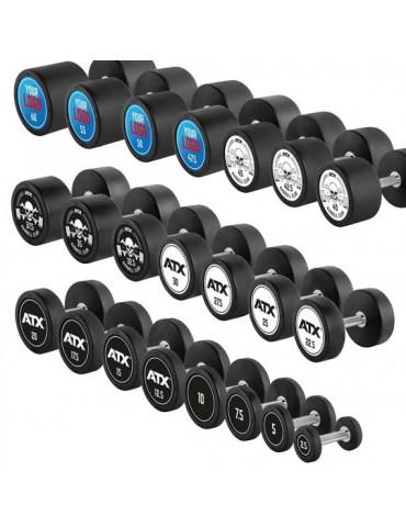 Haltères d'entrainement de musculation avec logo sur demande et revêtement de protection