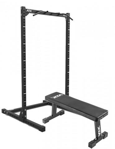 Pack de musculation complet de la marque atx : Demi-rack et banc plat