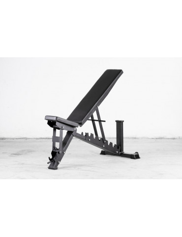 Banc de musculation réglable avec roues de transport de conception solide - Kingsbox