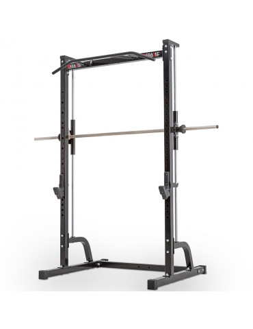 Smith machine avec barre guidée et poste à traction