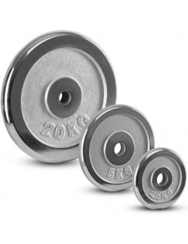 Disques de poids chromés 30 mm 0,5 à 20 kg
