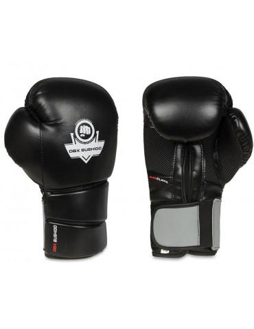 Gants de boxe en cuir noir...
