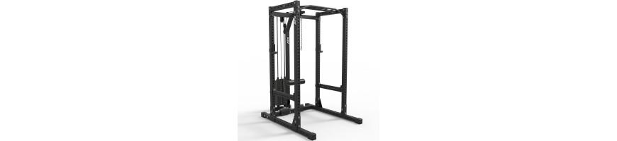 Rack de musculation haut de gamme avec poulie haute et basse