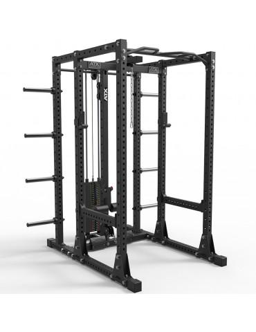 Power rack de musculation avec poulie et colonne de poids