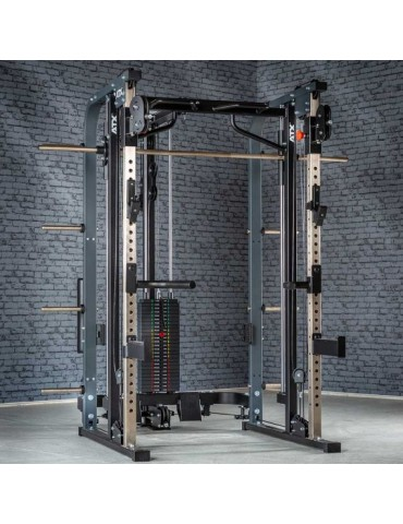 Smith machine polyvalente barre guidée