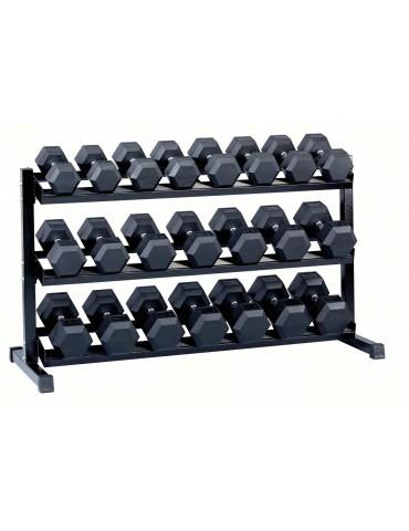 Set complet haltères hexagonaux 20 à 40 kg