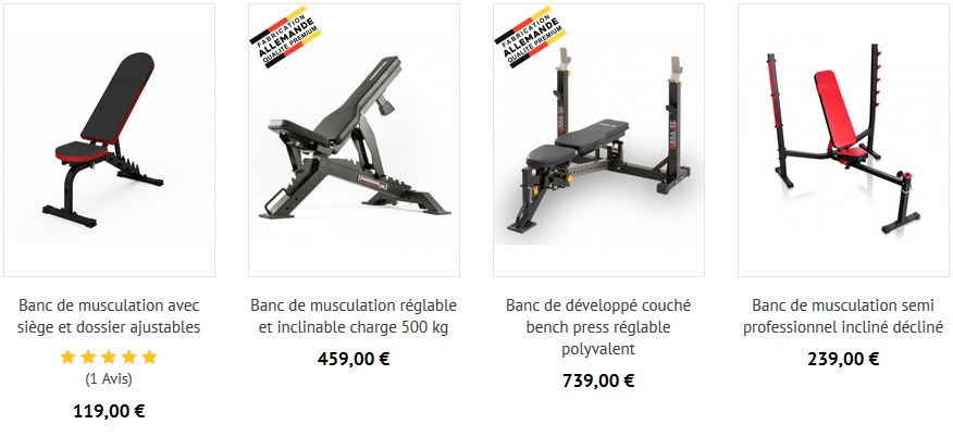 Banc de musculation homegym