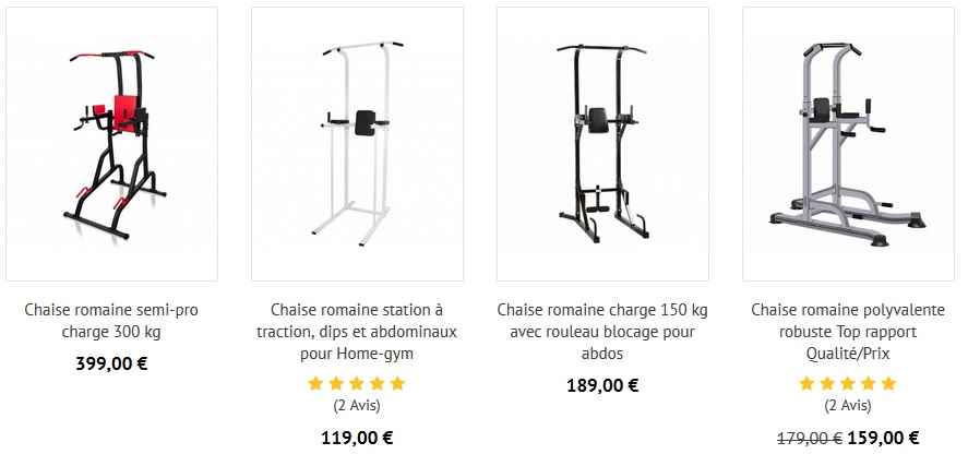 chaises romaines musculation pas cher