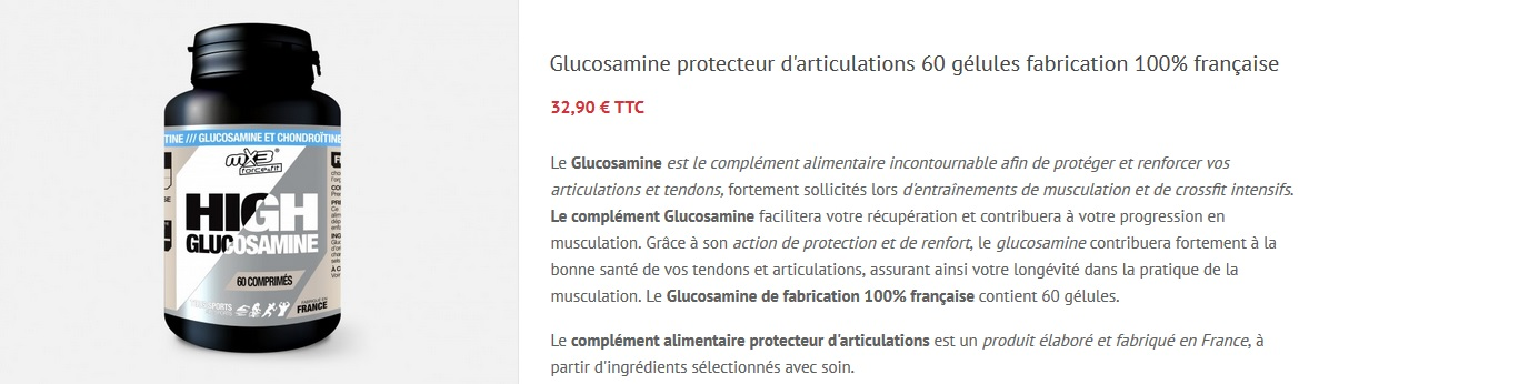 Glucosamine musculation complément