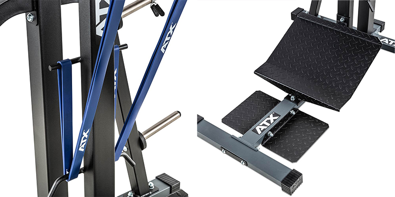 Squat machine ATX élastiques + plateforme