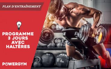 Musculation en Home gym - Programme d'entraînement aux haltères sur 3 jours